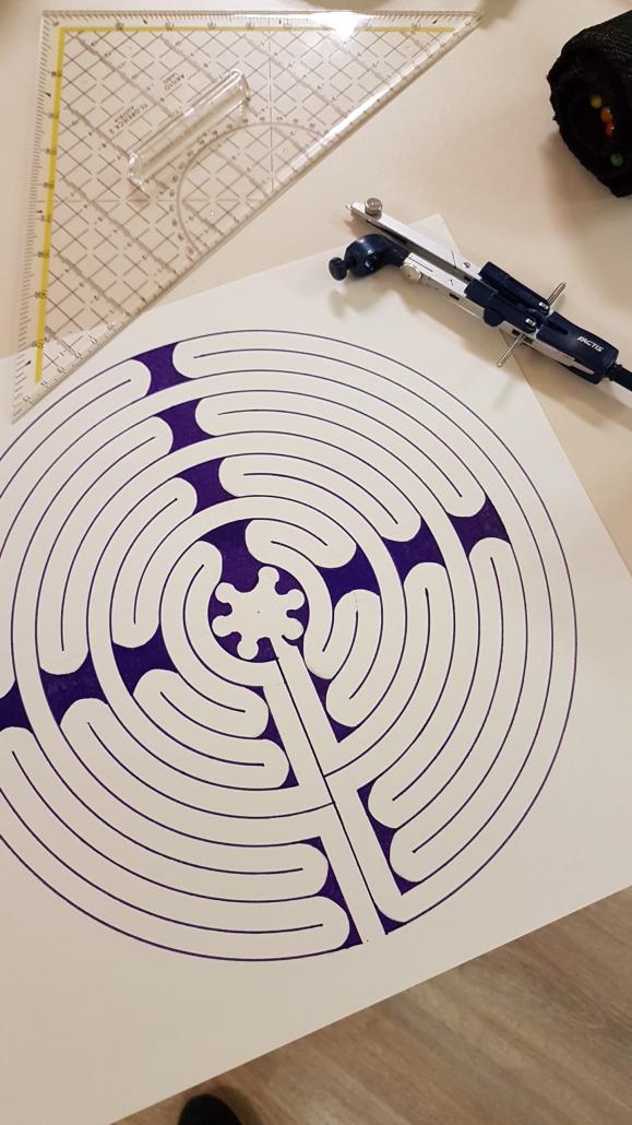 Labyrint tekenen met een passer
